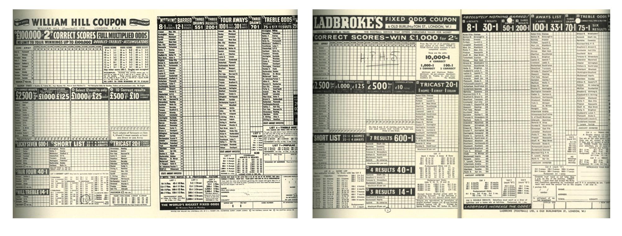 William Hill coupon v Landbroke coupon