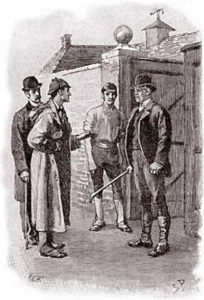 Sherlock Holmes in Silver Blaze. Illustration by Sidney Paget.