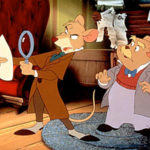 Copyright Bites. The Great Mouse Detective (1986), directed by Ron Clements, Burny Mattinson, Dave Michener, and John Musker; and produced by Walt Disney Pictures. This work is in copyright. Source: http://decentfilms.com/blog/great-mouse-detective